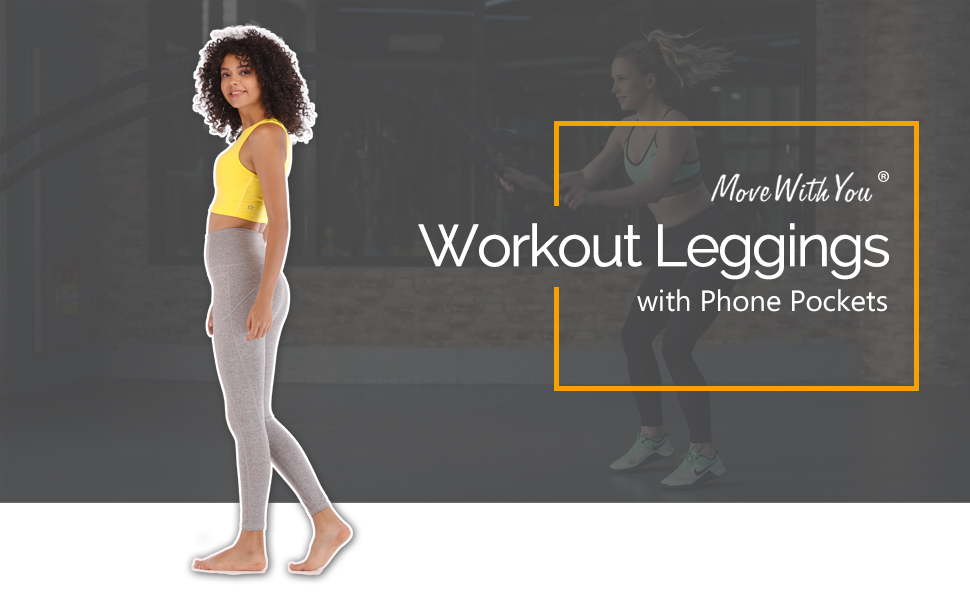 workout leggings phone pockets tummy control