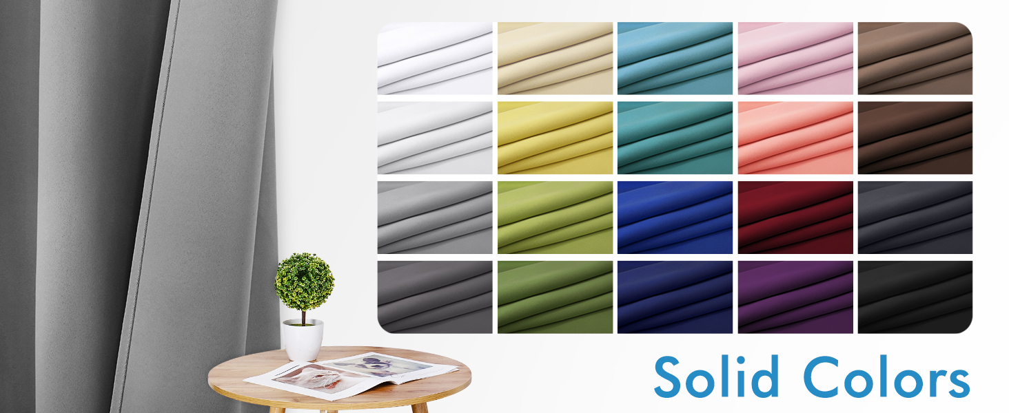 Blackout Curtains with Various Colors