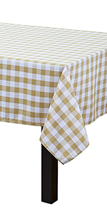 Checkered Tablecloth Square Tablecloth