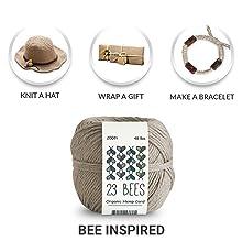 23 Bees Organic Hemp Cord Twine String