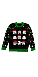 Star Wars Stormtroopers Ugly Christmas Sweater Storm troopers santa