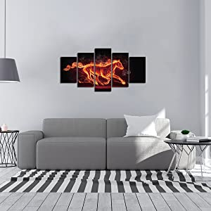 5 panel canvas art set paint will brighten up your house and make the interior room
