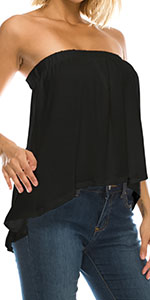 High Low Tube Blouse