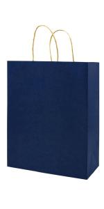 Small 5.25*3.25*8 inch Blue 100Pcs Kraft Bags