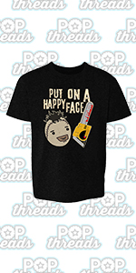Pop Threads Horror Movie Scary Funny Halloween Jason Retro 80s Toddler Kids Girl Boy T-Shirt