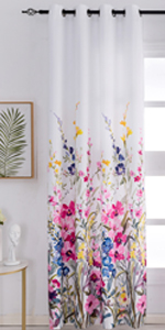 red floral cutains,print curtains,darkening curtains