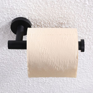 Front view of tp holder with toilet paper