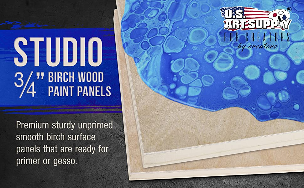 "Studio 3/4"" Birch Wood Paint Panel"