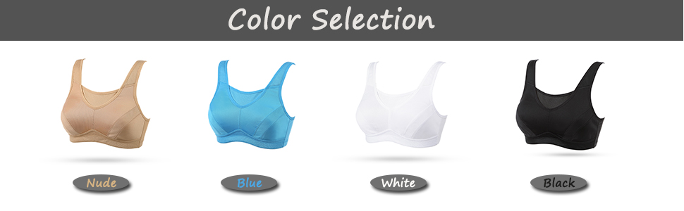 Women's High Impact Sports Bra Full Coverage Wirefree Non Padded Workout Bra Plus Size