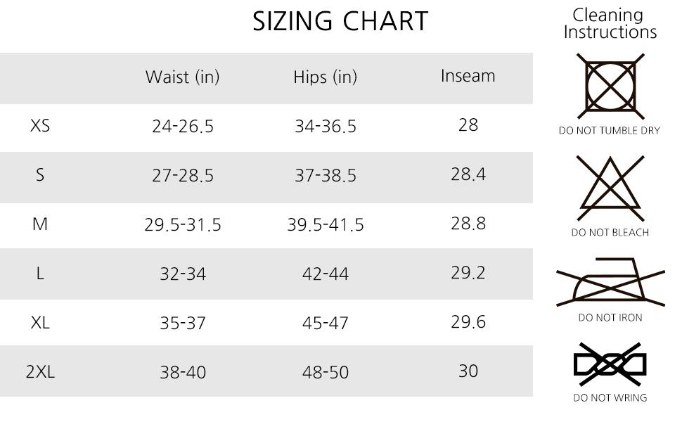 size chart, athletic active sport sweat pants sweatpants