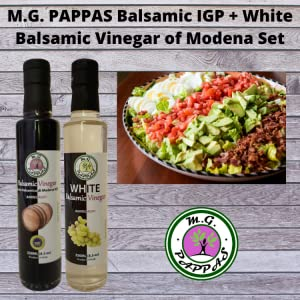 M.G. PAPPAS Balsamic Vinegar of Modena Barrel-Aged IGP plus White Aceto Balsamico Sweet Gourmet