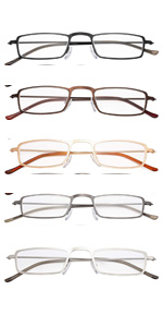lightweight reading glasses men women metal reader eyeglasses
