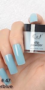 dip powder, dipping powder, blue, cyan, green, pearl shine, purple, yellow, red