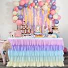 unicorn theme table skirt