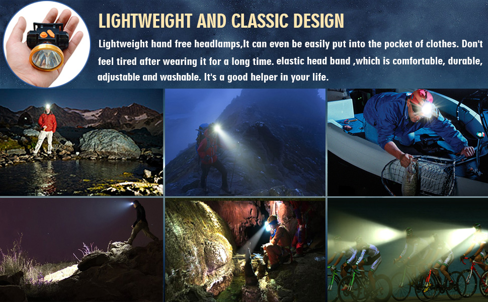 Odear LED Rechargeable Headlamp
