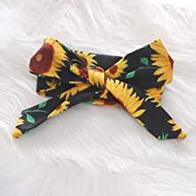 Floral bowtie headband