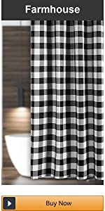 farmhouse shower curtain cotton blend
