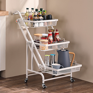tiered cart with wheels