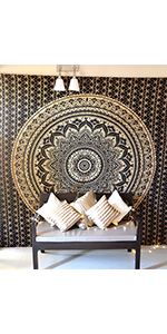 tapestry wall hanging, boho decor, tapestries for bedroom, queen blanket, mandala tapestry,