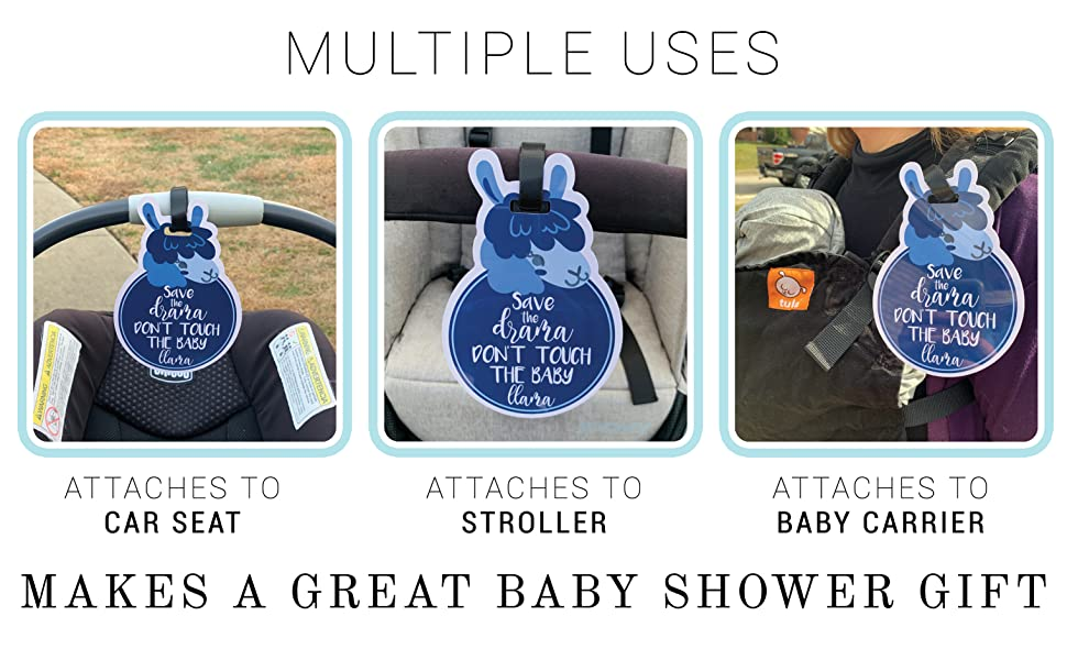no touching baby car seat tags, car seat signs, no touching signs, baby no touching signs, car seat