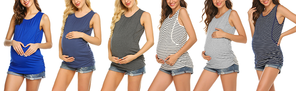 Maternity nursing tank top