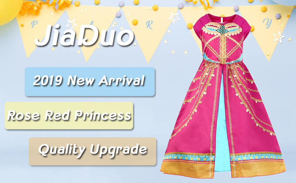 Adorable dress for your little princess This costume is made of 100% polyester with