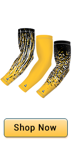 3 pack sports arm sports arm sleeves with 3 individually design sleeves, available in 9 colors