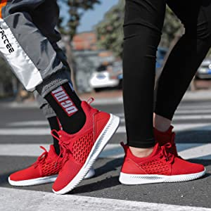 red snekaers