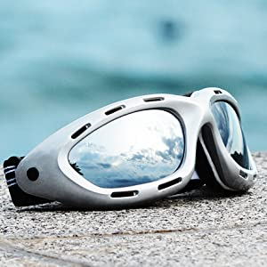 classic water sport pwc floating goggles silver