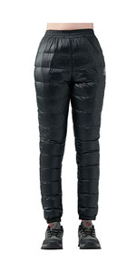 Women's Ski Pants Winter Windproof Warm Down Snow Trousers