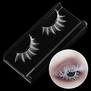 Beauty White False Eyelashes Long Cross Eyelashes Extension False Eyelashes Cosplay Eye Makeup Tools