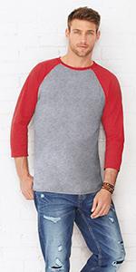 mens unisex team baseball sport raglan tshirt