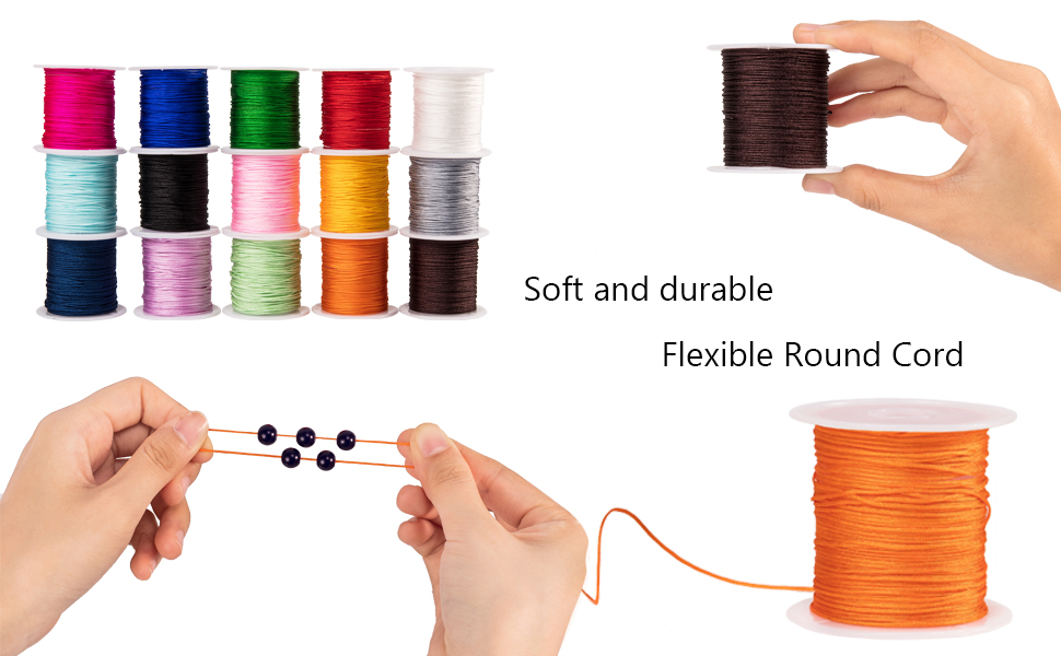 Nylon Shamballa Macrame Thread Cord Beading String for Bracelet Making