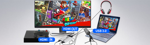 1080P 60FPS USB3.0 HDMI Game Capture Card