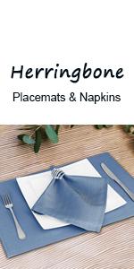VCVCOO Herringbone Placemats