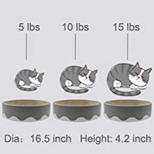 size fit most size cats and kittens