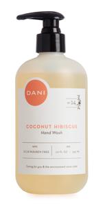 Coconut Hibiscus, Handwash, Natural, Nourishing, Organic, Sulfate-free, non-toxic, DANI, Hand Wash