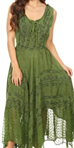 summer swing midi dress A-line sundress beach cover-up plain tank dress boho summer beach high-low