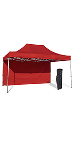 waterproof canopy tent telescopic height adjustable cheap heavy duty storage bag wheeled stake kit