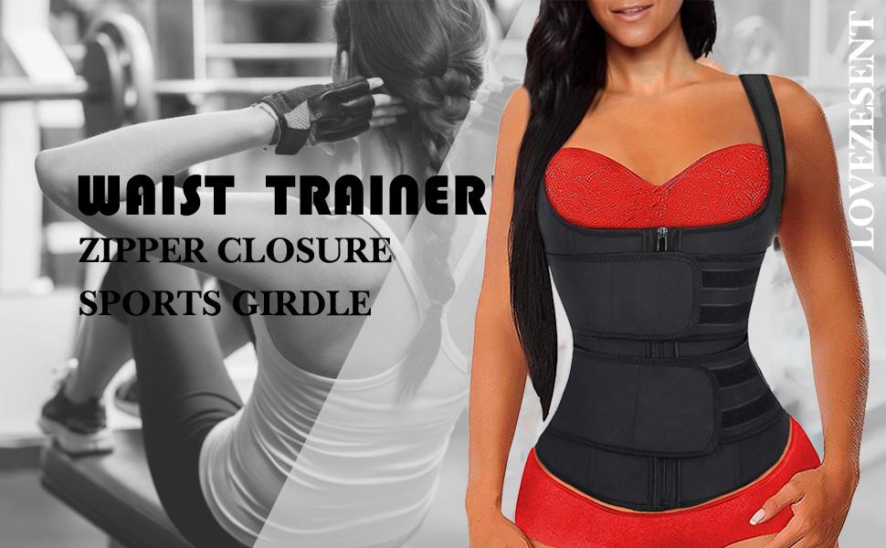 FEDNON Women Waist Trainer Tank Top Compression Vest Weight Loss Sweat Sauna Suit Body Shaper