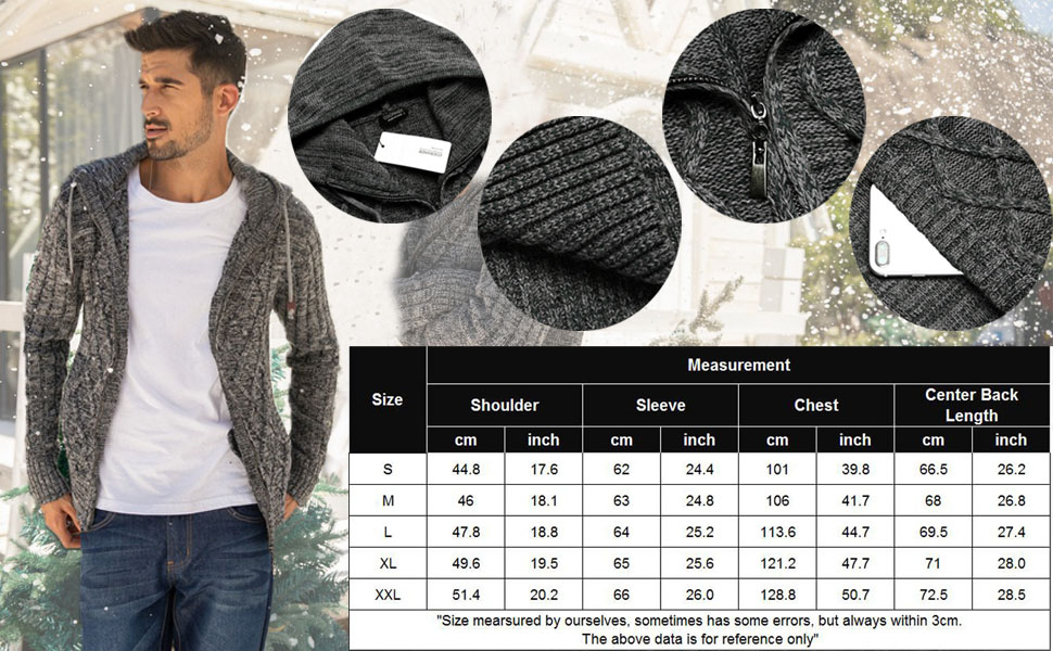 men sweater jacket