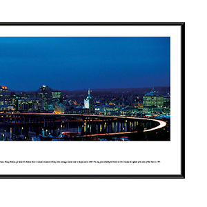 Albany at twilight with standard frame