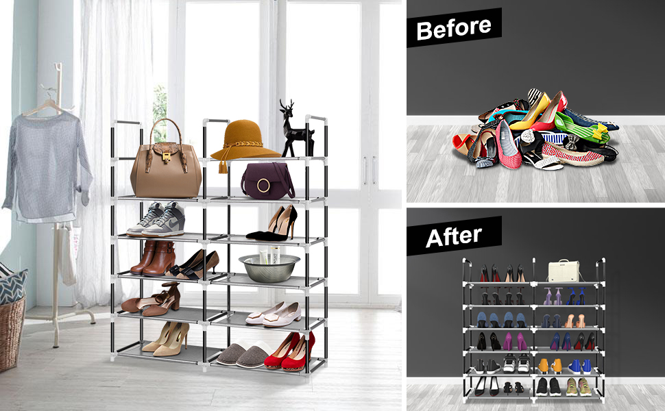 6 tier shoe rack