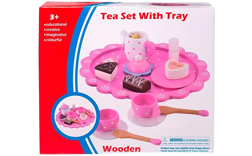 Wooden tea set wood toy