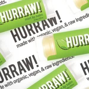 HURRAW Organic Vegan Cruelty Free Non GMO All Natural Coconut Earl Grey Mint Lip Balm