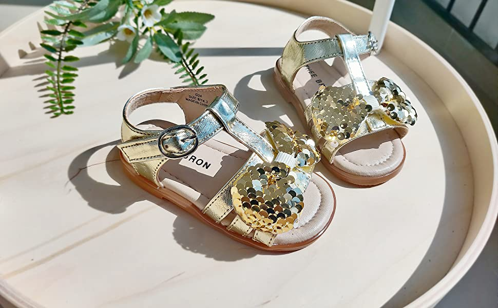 Gold sandal dress shoes elsa disney nike
