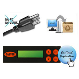 systor usb 2.0 duplicator feature - no computer or software required with one touch duplication