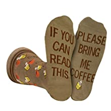 bring get me coffee socks men women gift coffee lover novelty fun