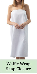 waffle cotton spa wrap around snap closure salon gown towel headband bathrobe shower fitness summer