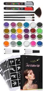Glitter Tattoo Kit 112 Stencils